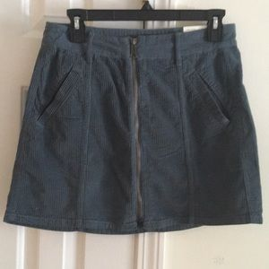 Blue corduroy skirt
